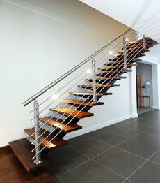 Professional prefabricate easy assemble glass decorative staircase railing straight stairs