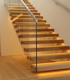 Gentil Prefabricated Steel Wood Stairs And Railing