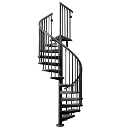 Outdoor cast iron carbon steel spiral staircase