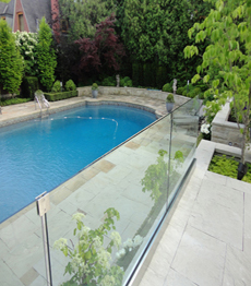 Hardware stainless steel swimming pool glass railing