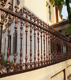 luxury aluminum garden fence