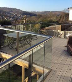 Aluminium u channel for glass railing