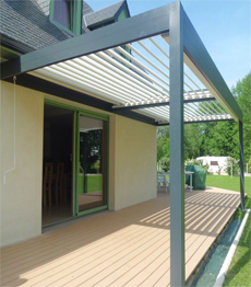 Electric Aluminum Louver Pergola For Outdoor Patio Roof