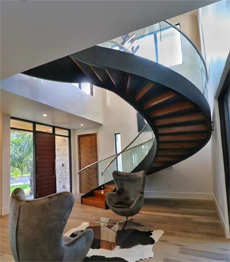 Interior modern design carbon steel plate treads support zigzag stairs - 副本