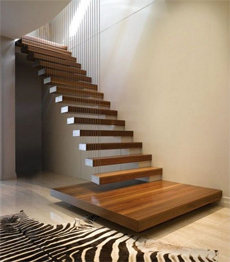 Customized Build Straight Stairs Floating Stairway DIY Staircase In Wood