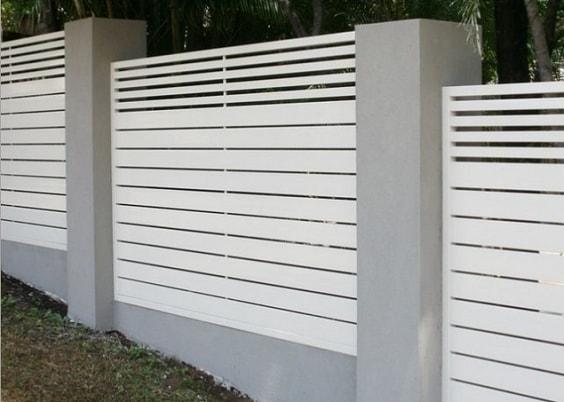 Aluminium Profile Decorative Privacy Slat Fence Panel